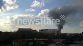 Fire at Scrubs Lane metal recycling yard in Willesden, London