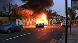Car fire in Acton, London 3