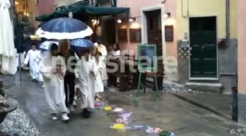 Corpus Christi procession through Monterosso