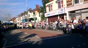 Olympic Torch Relay On Holderness Road Nr East Park