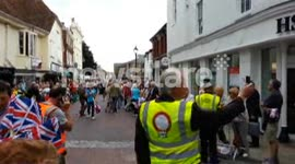 Olympic Torch at Preston Street, Faversham