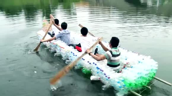 The Boat Made from Plastic Bottles