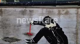 'Banksy' lookalike piece appears opposite the old BBC Television Centre