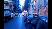 Fire truck torched by anarchists | Athens, Greece
