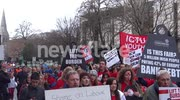 60,000 Attend Debt Burden Demonstration In Dublin, Ireland