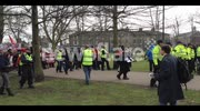 English Defence League rally in Cambridge and Unite Against Fascism counter-march