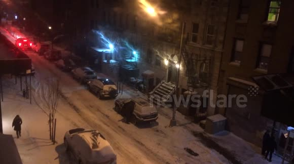 Blizzard hits Brooklyn in New York