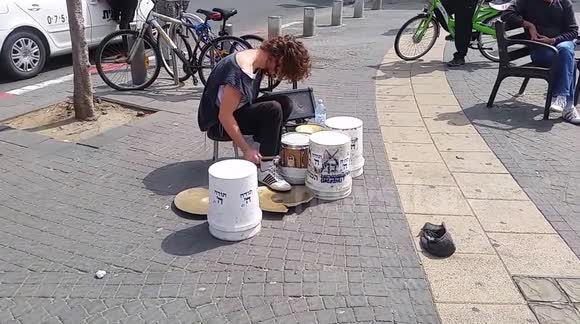 Tel Aviv Drummer can't stop and wont stop