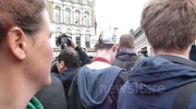 Protesters chanting at Thatcher funeral procession (3)