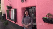 The controversial Pink Cottage in Kennford, Exeter, Devon.