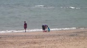 Atmospheric shots of the May Sunshine bringing people out to the beach