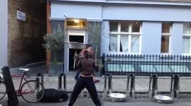 Busker on Rathbone Street