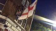 Police Confront EDL Supporters Outside Woolwich Pub