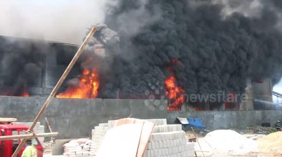 Philippines Valenzuela Fire Huge Fire at Valenzuela City