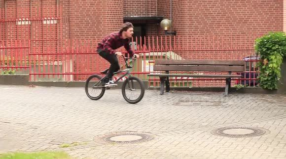 Amazing BMX Bike Wallride Trick