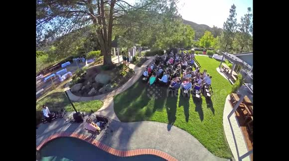 Drone delivers wedding rings