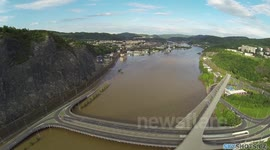 Floods in Czech Republic, Usti nad Labem 6/2013