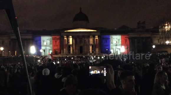 Paris attacks - Vigil in Trafalgar Square for the victims