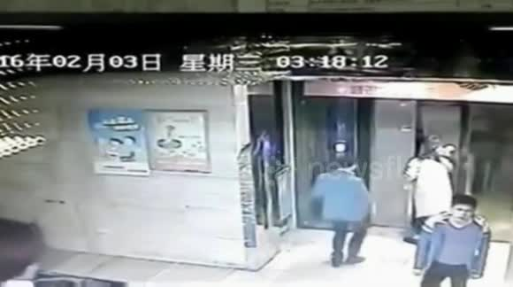 Man falls into elevator shaft after kicking door open
