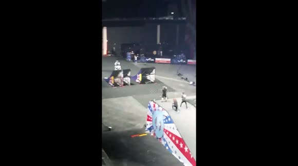 Motocrycle crash at 'Nitro Circus' in Scotland injures two