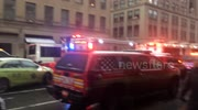 Emergency services on scene of NYC crane collapse