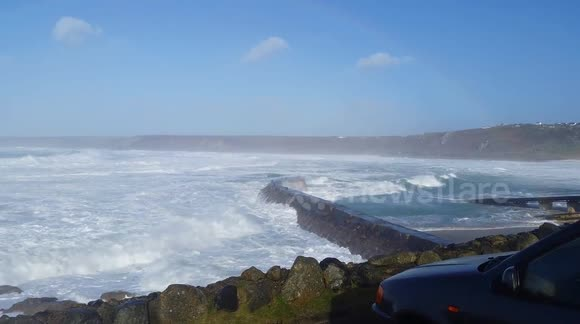 Storms batter Sennen cove