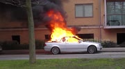 Lucky escape for driver as car bursts into flames in High Wycombe, UK