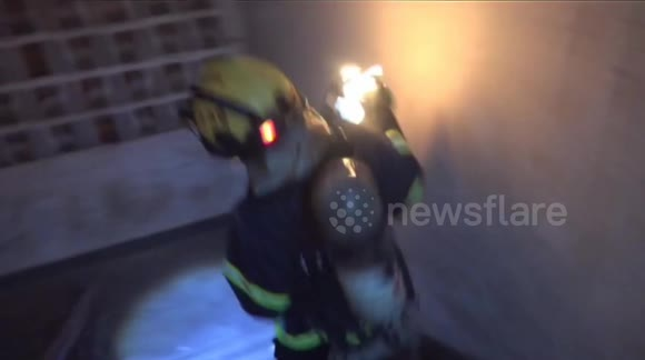 'Hero' firefighter carries burning gas cylinder out of house to extinguish blaze