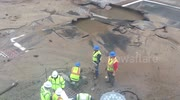 Springfield, MA Water Main Break/ Sinkhole  May 4, 2016 3:48PM