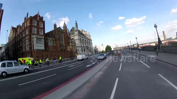 LTDA taxi driving on Blackfriars Cycle Superhighway