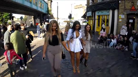 Geordie Shore girls meet up for show anniversary in Camden, London