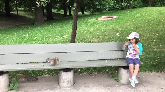 Dad uses a REAL squirrel to pull out daughter's milk tooth