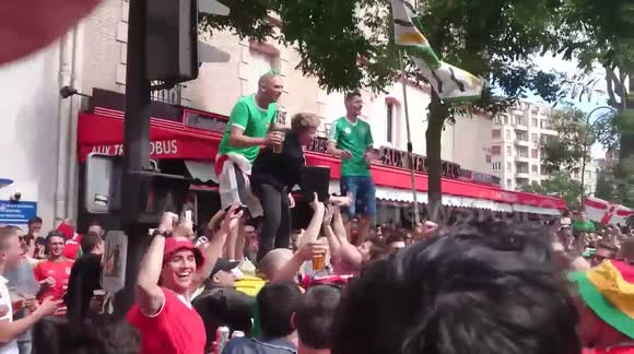 Wales and Northern Ireland fans help reunite a lost fan with his dad