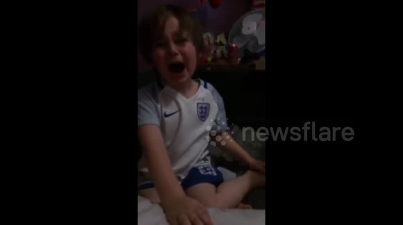Boy becomes 'hysterical' after England's Iceland defeat