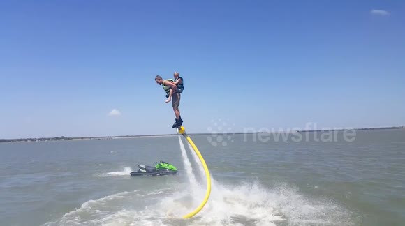 Pro-jet ski racer builds makeshift flyboard
