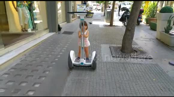 18 Month Old Baby on Segway