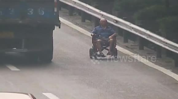 80-year-old man in electric wheelchair ends up on motorway by mistake