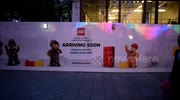 Work starts on the construction of the Lego store in Leicester Square