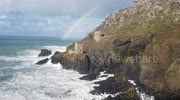 Stunning rainbow appears over Cornish tin mine ruins