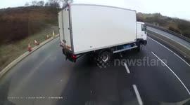 Newsflare - M180 Motorway Junction 1 Accident Crash Dashcam