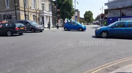 Newsflare - Three Car Collision on London's North Circular Road