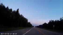 Newsflare - U-turn fail causes crash on US highway