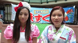 Newsflare - Japanese cosplay girl shows her panties at