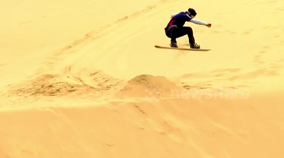 Newsflare - Sandboarding in Dunes South Chile