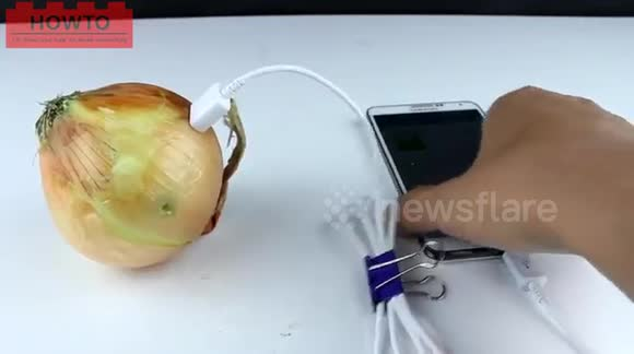 Newsflare - How to charge your phone using an onion