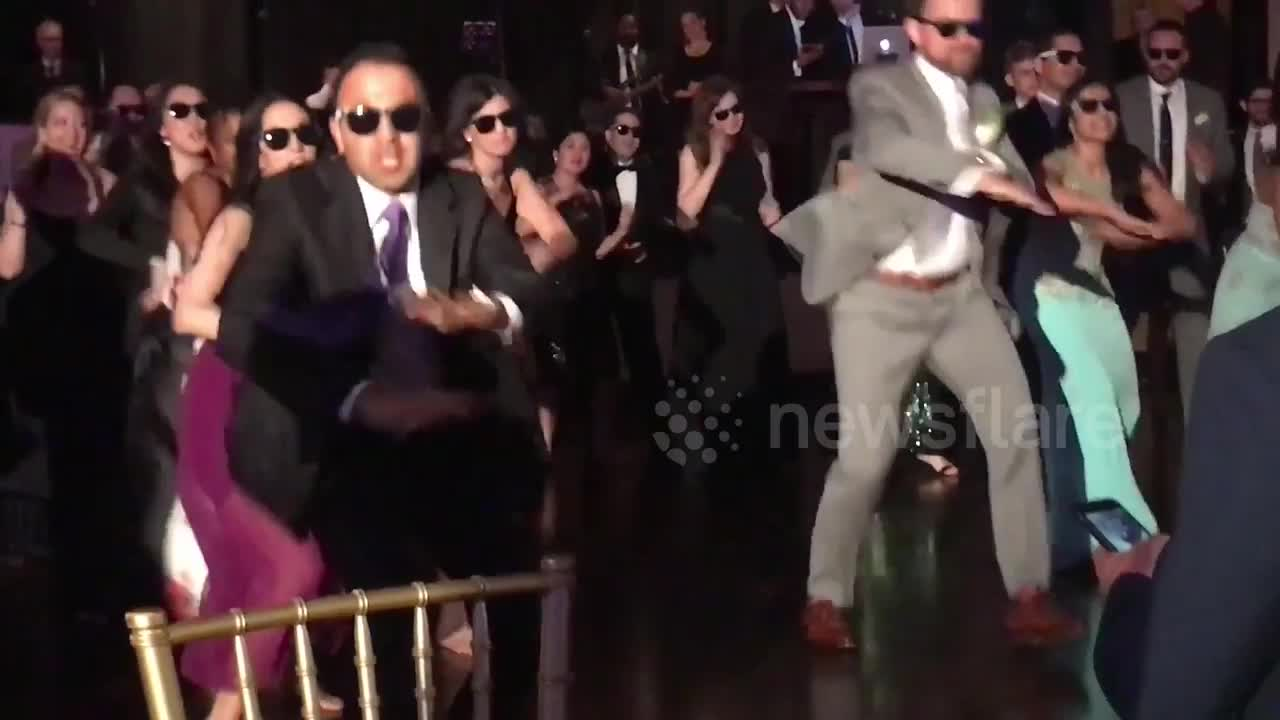 Newsflare Bollywood Dance Flash Mob At Wedding Reception