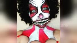 newsflare edit scary clown halloween face paint