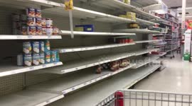 Admirable Newsflare Shoppers Empty Supermarket Shelves Ahead Of Home Remodeling Inspirations Genioncuboardxyz
