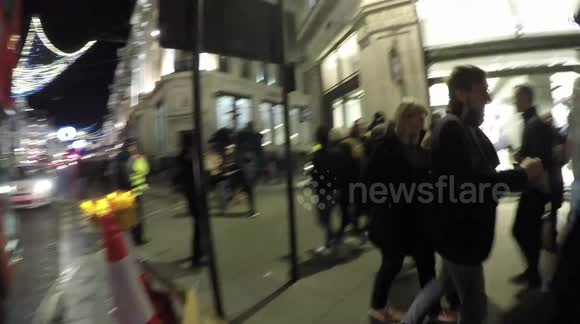 Canada Goose Store Protest in Regents Street In London