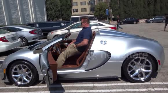 Newsflare   Arnold Schwarzenegger Shows Off His Million Dollar Car To  Sylvester Stallone